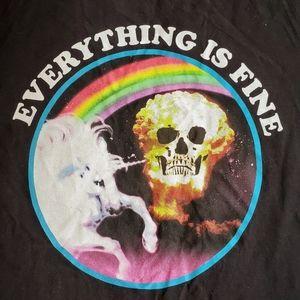 🆕️BLACK MATTER•'Everything is fine'•UNISEX •🌈•M